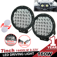 Super Bright Black 160w 8 inch Round led driving light spot/flood light Truck lamp for SUV,JEEP, ATV,4X4
