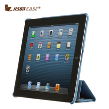 Jisoncase blue PU case with stand smart ultra thin case for ipad 4 table cover for ipad 4 case