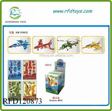 2015 Hot sell children paper building block assemble 3d building block