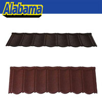 Zinc-aluminum coating and stone chip nosen chip coated steel roofing, metal roofing tiles stone coated roof tile