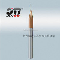JINOO manufacture 45 degree tungsten 1mm 2 flute solid carbide end mills