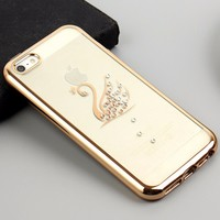 electroplating tpu luxury diamond phone case for iphone 6,iphone 6 plus