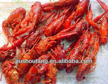 Frozen cooked whole crawfish seasoned with pepper