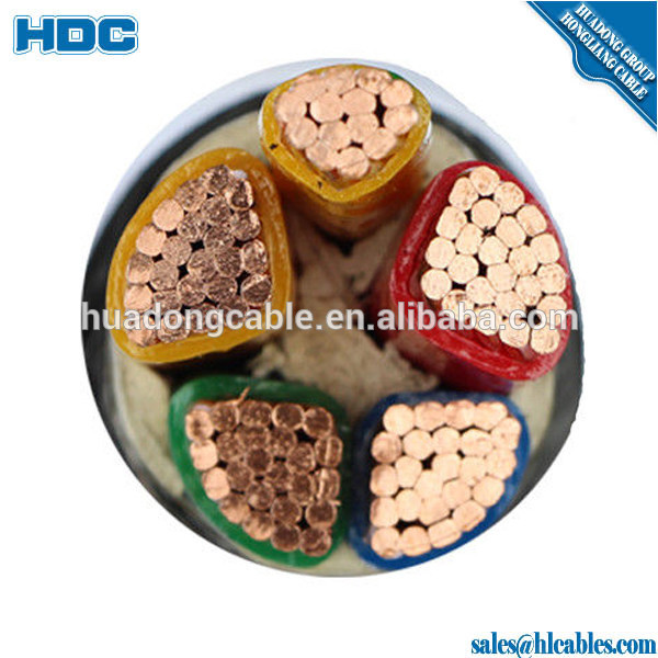 VDE 3x35mm2 NYCWY Cable Electrical Power Cable with copper conductor