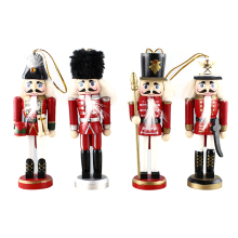 Wholesales factory direct fiberglass soldier nutcracker for christmas decoration wood christmas life size nutcracker