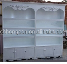 European style wood cosmetic display stand