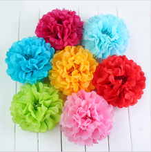 6inch 15cm High quality handmade DIY party tent decoration paper pom poms