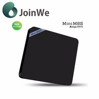 2016 Joinwe New Arrival With Bluetooth 4.0 Amlogic S905 Google Android 5.1 2g 8g H.265 Hevc Quad Core Mini M8s Android Tv Box