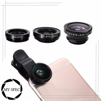 2017 New Arrival electronics mobile phone lens clip camera lens wide angle fisheye lens