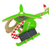 Solar Helicopter Toy Airplane With Bright
