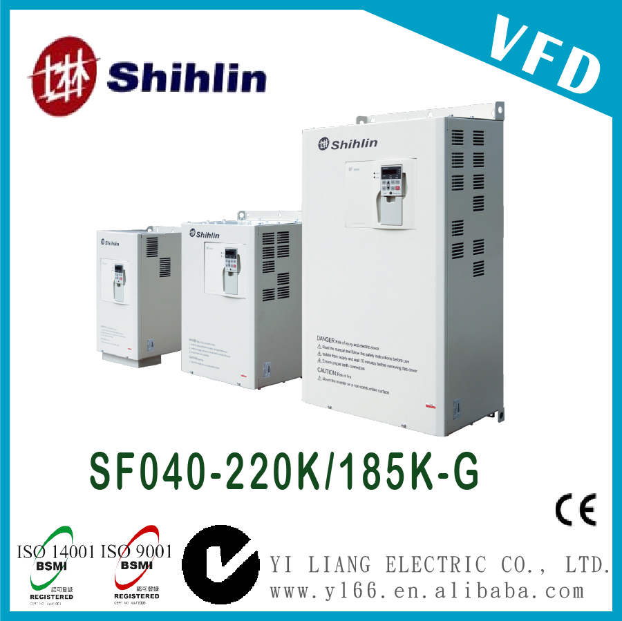 SF040-220K/185K-G 300HP Taiwan three phase dual-load high performance vector control inverter vfd supplier