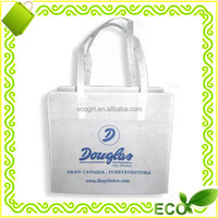 cheap price blank DIY OEM logo reusable recyclable tote shopping personalized pp non woven bag white