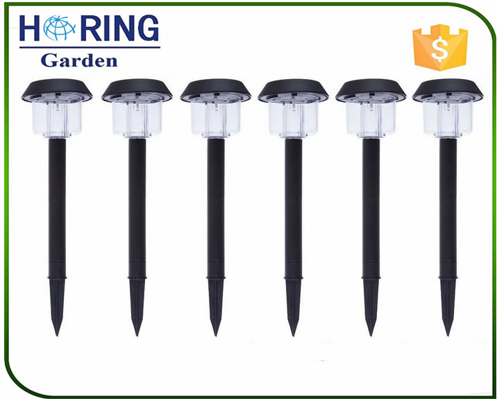 Solar-Powered LED Garden Lights Perfect Neutral Design Garden Pathways All-Weather/Water-Resistant Plastic outdoor lighting