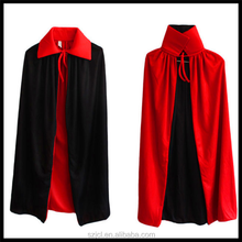 Hot Sale High Quality Halloween Double Layer Cloak Black And Red Both Worn Halloween Costume For Adults And Kids