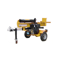 forestry machine timber cutter 6.5hp 22ton wood cutting log splitter