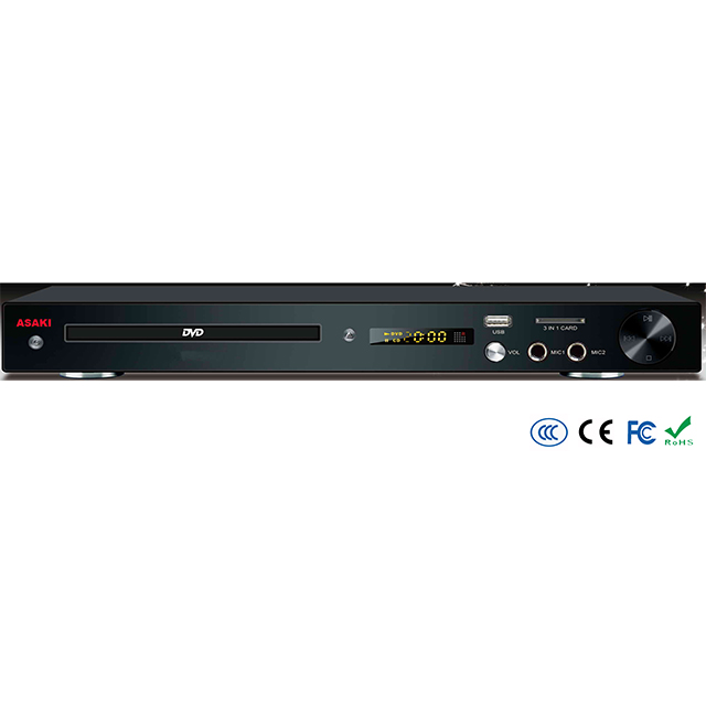 Home China factory supplier AC 5.1ch 2ch TV USB SD KARAOKE CD-G XVID AC-3 MP4 reproductor DVD player