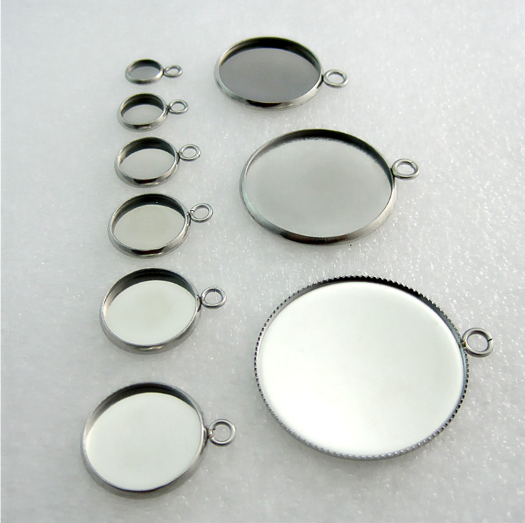 Stainless Steel Jewelry Tray Findings Hot Sale Pendant Settings Finding