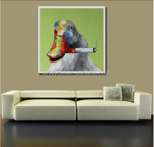 Cute Animal Painting Modern Decor Artwork Wholesale