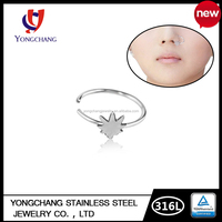 Fake silver hoop 316L surgical stainless steel indian women nose ring for wholesale body piercing jewelry with factory price