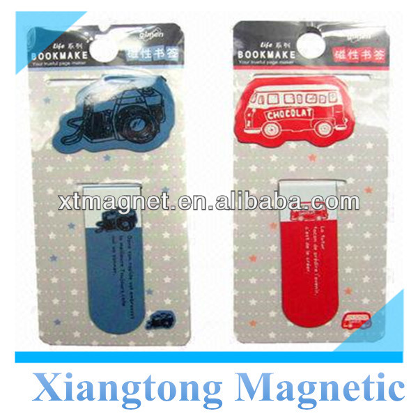 Special and Unique Design Camera and Bus shape Paper Folding Magnetic Bookmark