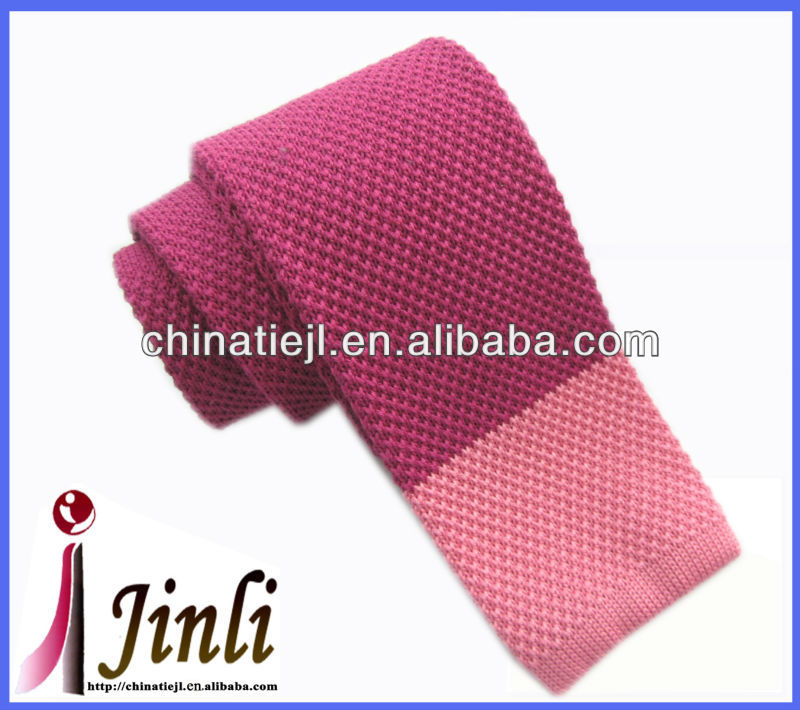 2014 plain cotton knitted mens' tie