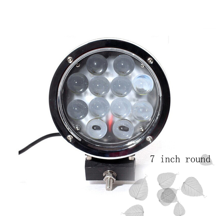 Large-scale 60w jeeps led driving lights round 7 inch for led spotlight 4x4 off road jeep suv tractor