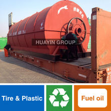 HuaYin No Pressure 8T Waste Tire Plastic Recycling Machine To Fuel