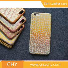 Luxury ultra thin soft snake leather mobile phone back cover case for iphone 6 6s
