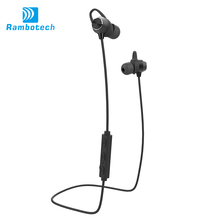 V4.1 sports stereo bluetooth earphones with magnet attraction design amplifier bluetooth-RM8