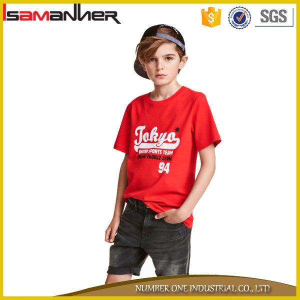 100% cotton new style casual oem service t-shirt boys design printing