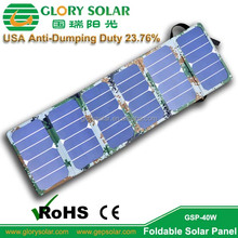OEM ODM Order Camouflage Color 6 Folded Small Panel Sunpower PV Solar Panel 40W