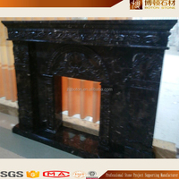 Indoor Used Natural Stone Marble Electric Fireplace Surround