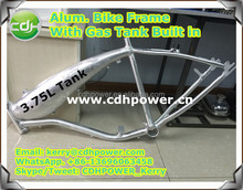 motorized bicycle frame, bicycle frame with 3.75L gas tank built in