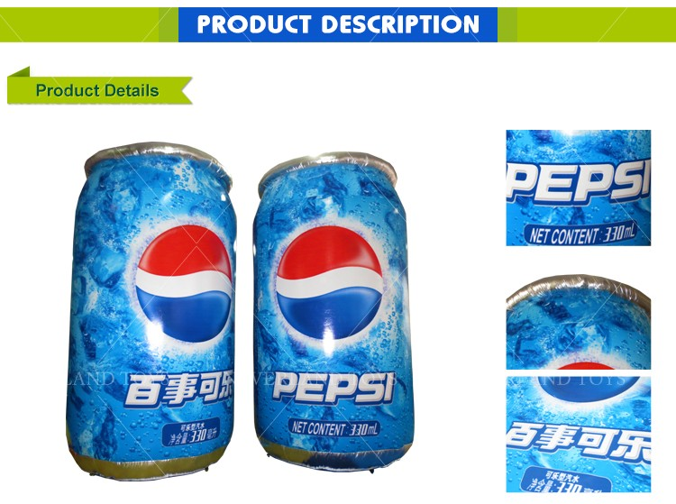 NEVERLAND TOYS Inflatable Advertising Shapes Inflatable PEPSI Can Advertising Custom Pop Cans Cheap for Sale
