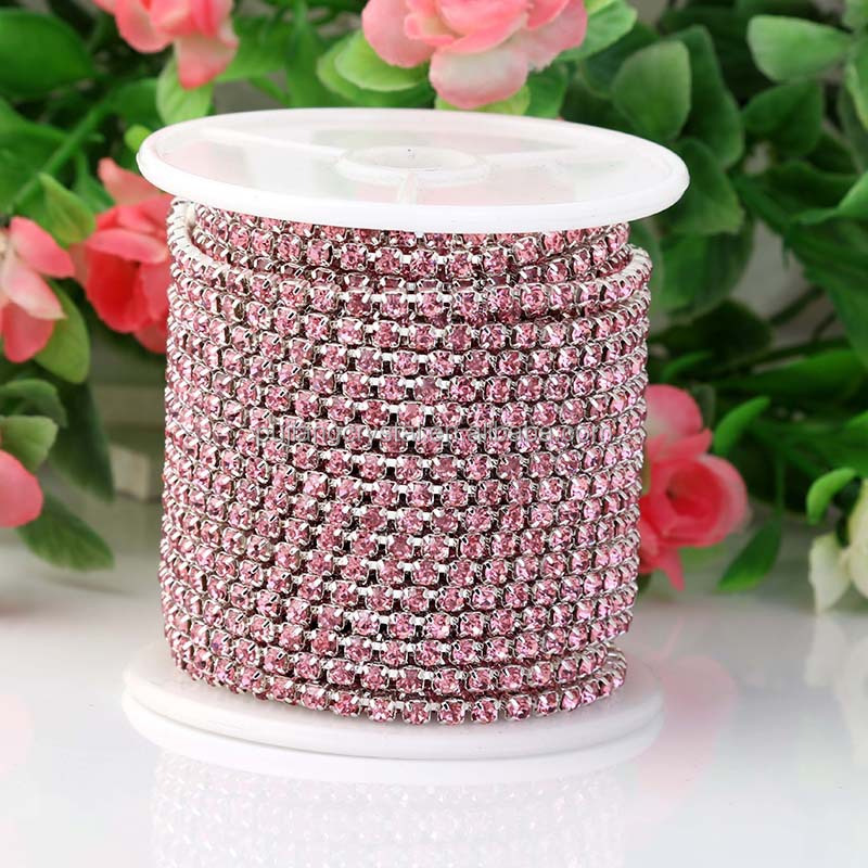 wholesale ss 6.5 many colors high density Rhinestone Cup Chain