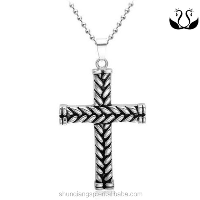 christian design stainless steel jewelry cross necklace pendant for menss necklace pendant for men