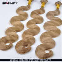2016 New arrival High quality cheap 3 pieces Peruvian human hair 28inch body wave color 27 30 hair weft