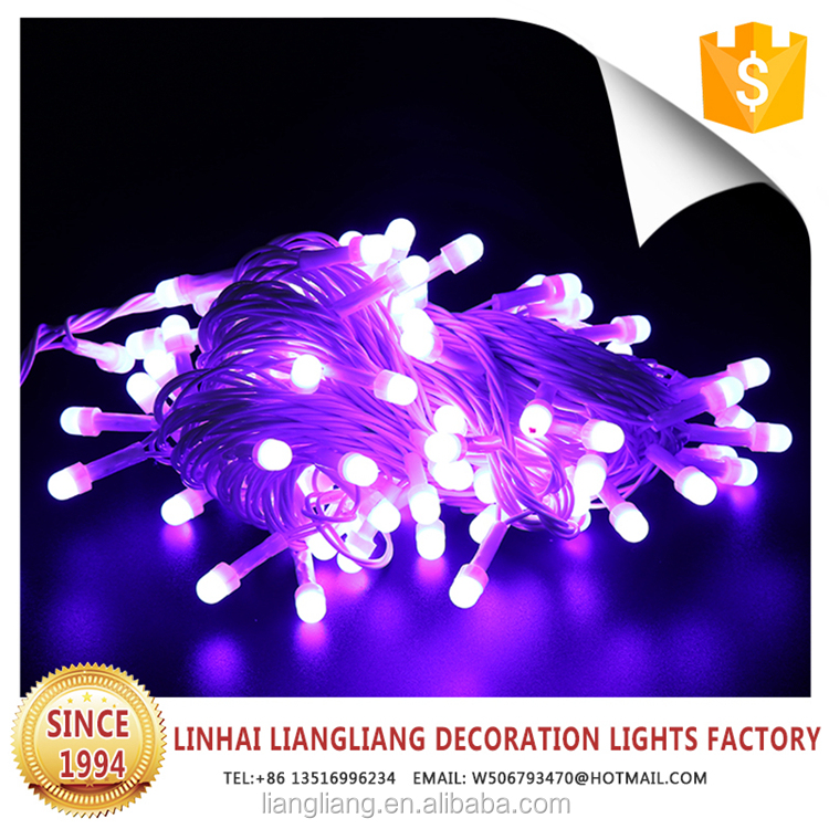 cheap christmas decorations purple led string light