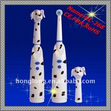 Battery power operated electric toothbrush with lovely dog cover(HL-268)