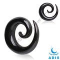 Fashion acrylic body piercing jewelry black ear spiral taper