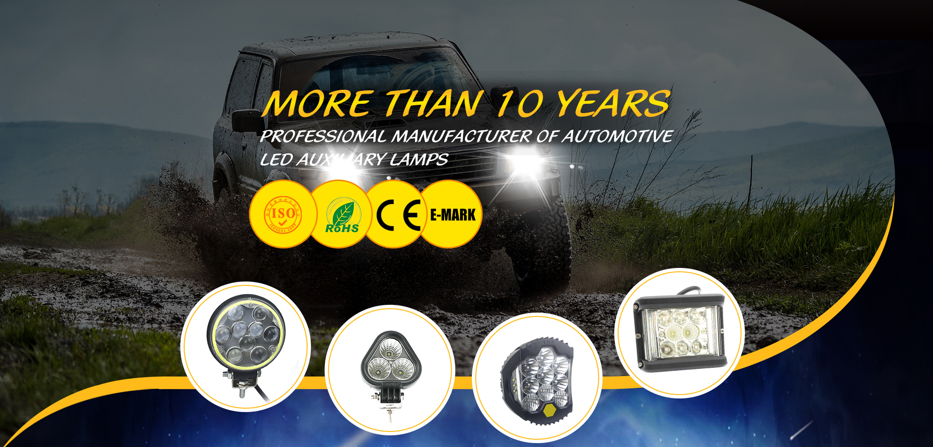 6D LED Work Light 576W Bar Combo Spot Flood Beam Off-road Car ATV UTV Truck