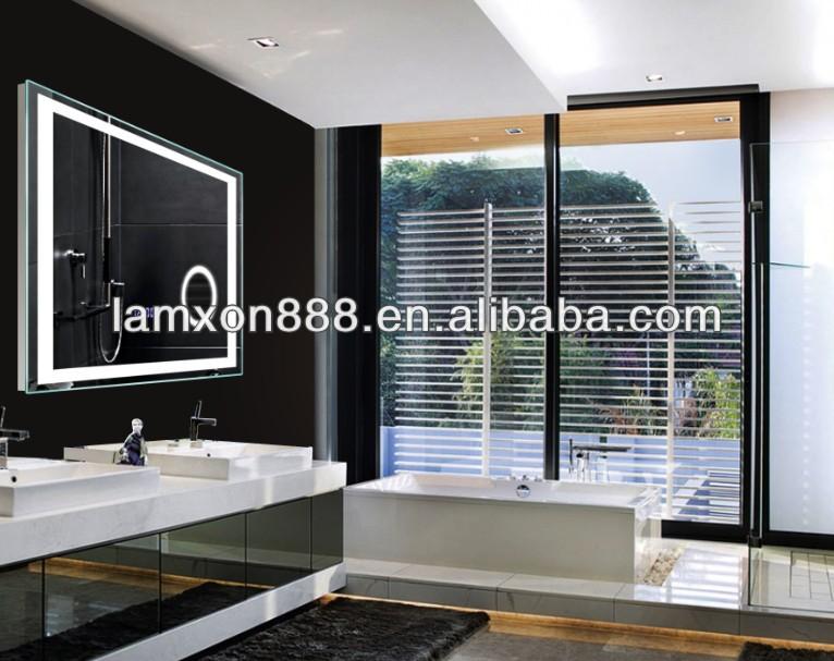 hei verkauf f hrte badezimmerspiegel mit digitaluhr und lupe f r hotelprojekt badspiegel. Black Bedroom Furniture Sets. Home Design Ideas