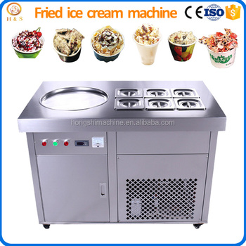304 stainless steel low price flat pan stir fry ice cream machine