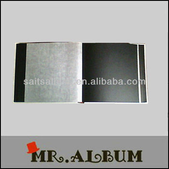 traditional PU cover photo album with wax interleave sheet