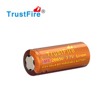 Long cycle flat top 26650 li ion battery 51A high discharge current battery unprotected