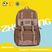 fashionable canvas backpack, good quality school bag on sale