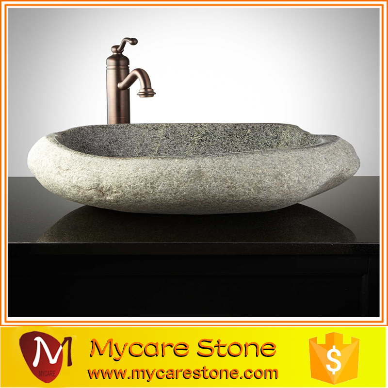 Freestanding Different Color River Stone Wash Basin