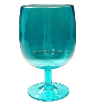 Plastic PS SAN AS Acrylic Tritan Stem Water Goblet