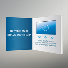 A5 customized Rechargeable digital video folder brochure card for wedding invitation event