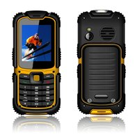 oem mobile phone W26 2.2'' quad core gorilla glass waterproof dual sim cell phone mobile rugged phone for elderly